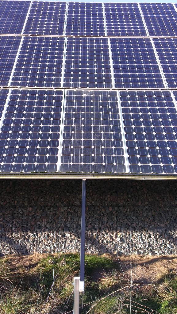 Defektes Solarmodul