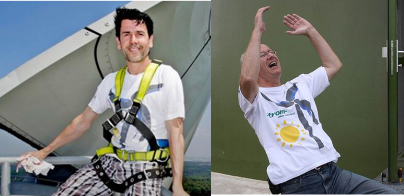 Matthias und Erhard im gleichen Shirt